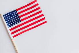 small american flag on table free photo