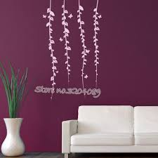 Butterfly Vine Corner Wall Stickers Hanging Vines Tree Flowers Decals Home Decor