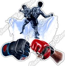 Kickboxing Boxing Boxer Ring Fight Pads Mma Car Bumper Vinyl Sticker Decal 4 6 For Sale Online Ebay