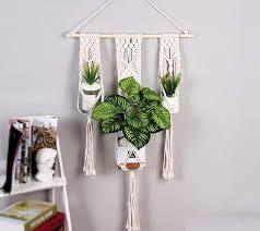 macrame plant hanger indoor outdoor