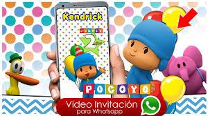 Video Invitacion Virtual De Cumpleanos Pocoyo Youtube