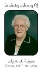Obituary   Myrtle A Wagner   Dobmeier Funeral Home