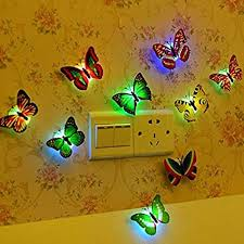 Led Butterfly Wall Sticker Removable Diy Art Decal Home Room Decoration
