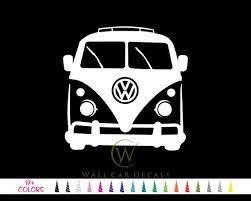 Vw Volkswagen Bus Vinyl Decal 17 Colors Multiple Size Etsy