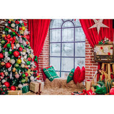 Yeele Merry Christmas Tree Gift Star Pillow Window Rural House