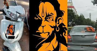 The Mystery Behind Why Bengaluru Is Covered In Stickers Of Angry Hanuman