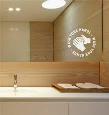 Social Distancing Wash Your Hands Window Glass Vinyl Decal Sticker Monkey Feet Graphics
