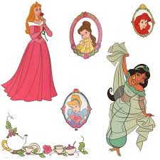 Stickers Royal Portraits Wall Decals Disney Princess Target