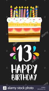 Feliz Cumpleanos Numero 13 Tarjeta De Felicitacion Para 13 Anos