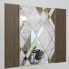 wall decorate panel with mirrors