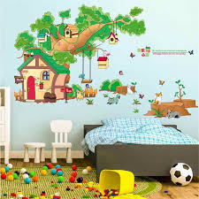 Home Decor Diy Tree House Removable Wall Decal Family Home Sticker Mural Art Home Decor Wall Sticker Home Deco Mirror Au14 Wall Stickers Aliexpress