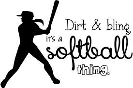 Softball Wall Lettering Vinyl Girls Decal Decor Art Teen Sports Room Quote 20 X16 Cc6 Walmart Com Walmart Com