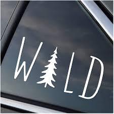 Amazon Com Wild Hiking Camping Adventure Vinyl Car Window Decal Sticker White Automotive