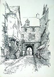 ILLUSTRATION FRANCE PORTE DU ROI MONT ST. MICHEL INK ADA WILLIAMS 1909 |  eBay
