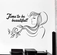 Vinyl Wall Decal Beauty Salon Quote Woman Hair Salon Stickers Mural Un Wallstickers4you