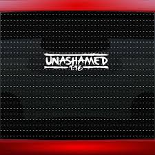 Car Styling For Unashamed 13 Romans 116 Christian Car Decal Window Sticker Clique Car Styling Car Decalcar Decal Sticker Aliexpress
