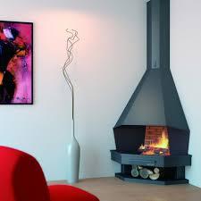 angle chimney in steel 11 kw open fire