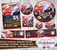 Invitacion Cumpleanos Cars 3 Kit Imprimelo Tu 69 00 En