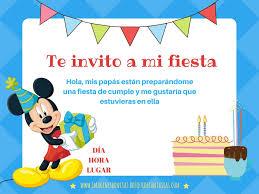 Texto De Invitacion Para Fiesta Infantil Dibujos Gall