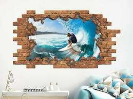 Surfer Wall Decal Surfing Removable Vinyl Stickers Mural Surfboard Decor Nd133 Ebay
