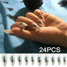 nail tips with glue full cover dollar