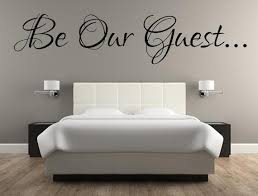 Be Our Guest Bedroom Wall Decal Sticker Inspirational Wall Signs