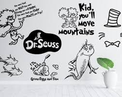 Dr Seuss Wall Decal Etsy