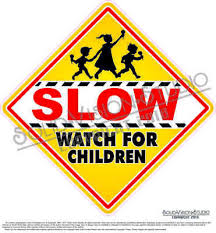 Restaurant Signs Stop Children Crossing Vinyl Decal 14 Concession Ice Cream Food Truck Cart Business Industrial