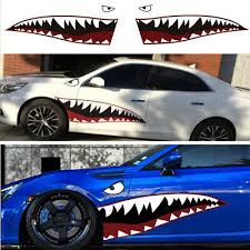 59 Full Size Shark Mouth Tooth Teeth Sticker Vinyl Car Exterior Side Door Decal Ebay