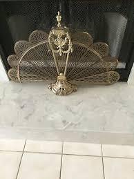 victorian peacock fan folding fireplace