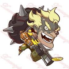 3d Cool Overwatch Car Styling Junkrat Q Style Cartoon Figures Car Stickers Motorcycle Vinyl Decal Exterior Accessories Jdm Wish