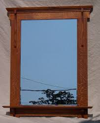 arts and crafts mission style mirror