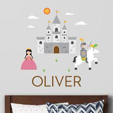 Knight And Castle Wall Decal Personalized Maxwill Studio