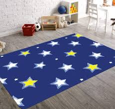 Star Nursery Decor Navy Blue Nursery Decor Boy Nursery Rug Rugs For Nursery Kids Room Rugs Navy Blue Decor Plush Rug Christmas Rug Child Be Wild