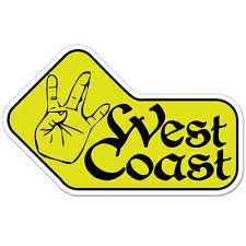 West Coast Car Bumper Sticker Decal 6 X 4 Ebay