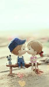 cute cartoon kissing couple iphone 8
