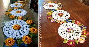 patrones para camino de mesa a crochet