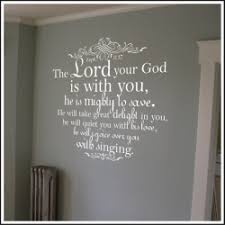 Zephaniah 3 17 With Scroll Wall Decal Old Testament Books Of Bible By A Great Impression Christian Wall Decals Christian Vinyl Wall Art Wall Decals