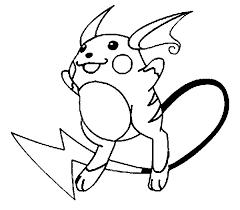 Pokemon Raichu Coloring Pages Getcoloringpages Com