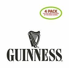 Guinness Sticker Vinyl Decal 4 Pack 682157639779 Ebay