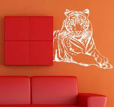 Silhouette Tiger Wall Sticker Tenstickers