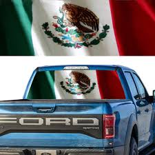 Tint Rear Window Graphic Decal Mexican Flag Ebay