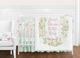 blush pink mint gold and white