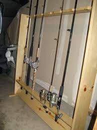 diy fishing rod rack suporte vara de