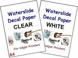 Water Slide Pack Of 10 Sheets Clear Transparent Inkjet