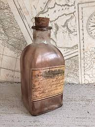 glass apothecary medicine bottle
