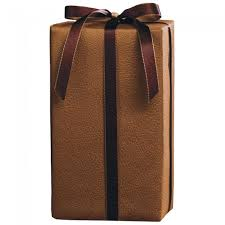 wrap embossed leather gift wrap