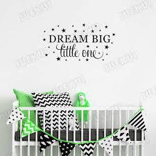 Dream Big Little One Sweet Pattern Wall Stickers For Kids Room Nursery Vinyl Wallpaper Decals Babies Bedroom Murals Ta107 Wall Stickers Aliexpress
