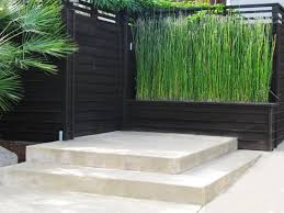 15 Beautiful Concrete Patio Ideas And Designs Contemporary Garden Concrete Patio Privacy Screen Outdoor