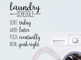 Laundry Schedule Wall Decal Vinyl Decal Laundry Room Etsy